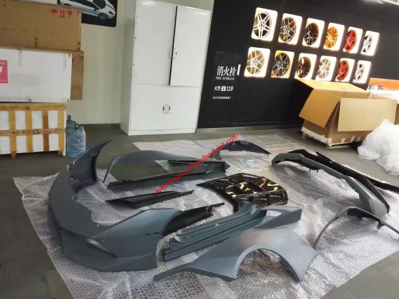 Huracan LP610-4 Update Novitec Wide body kit front bumper after bumper fenders side skirts