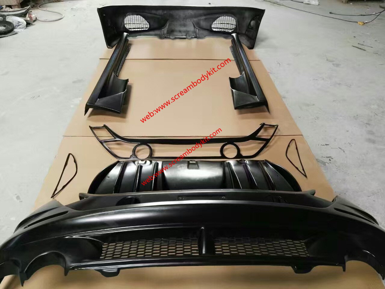 Ferrari F430 update ASI wide body kit  carbon fiber wing