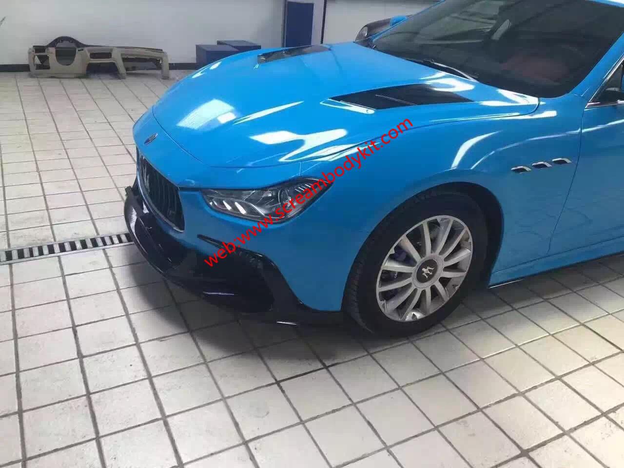 Maserati Ghibli body kit ASPEC front lip after lip side skirts wing