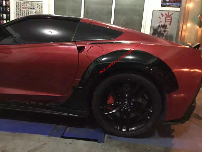 Chevrolet Corvette z06 C7wide body kit and carbon fiber body kit front bumper after bumper side skirts