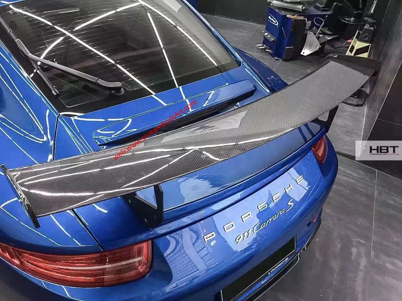 porsche 911 991 body kit front lip rear lip side skirts wing carbon fiber