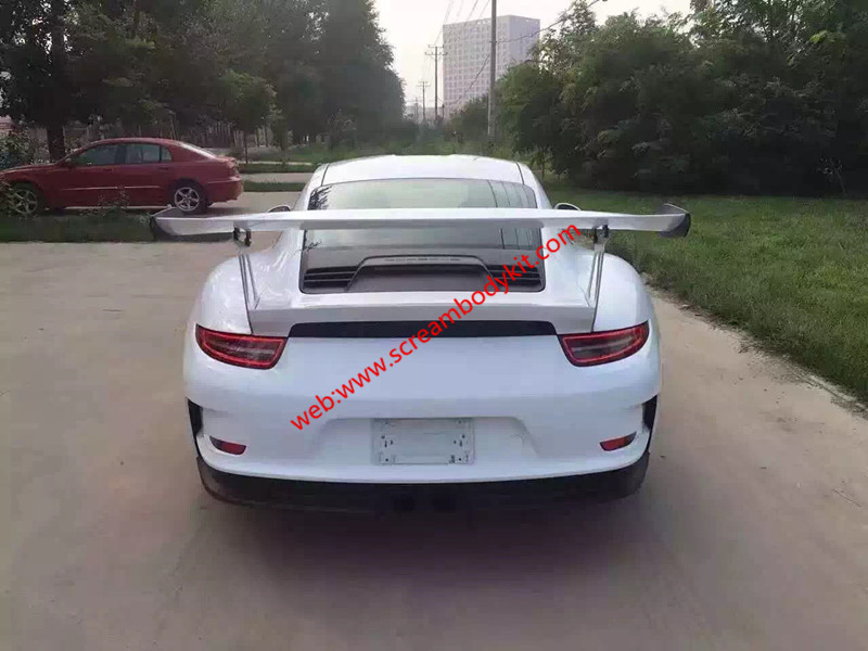 05-12 porsche 911 997 update GT3 or GT3 RS body kit front bumper after bumper side skirts hood rear spoiler fenders