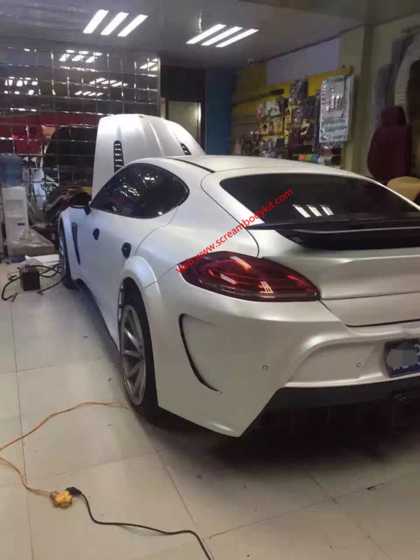 porsche panamera 970 mansory body kit wing carbon fiber front bumper after bumper side skirts hood rear spoiler fenders