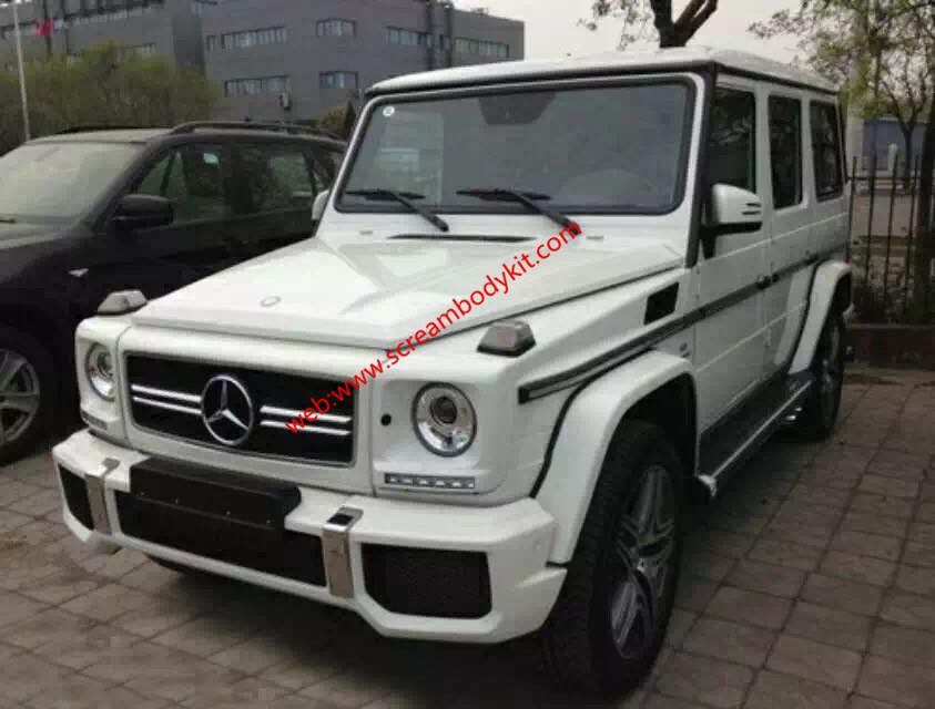 BenzG W463 G500 G550 G350 G63Amg body kit front bumper after bumper hood spoiler side skirts fenders