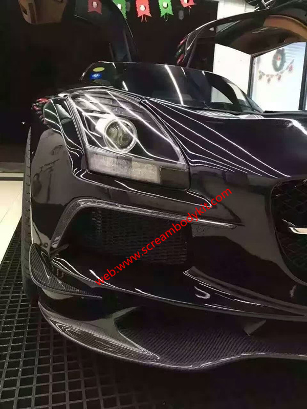 Benz sls update front lip after lip wing carbon fiber