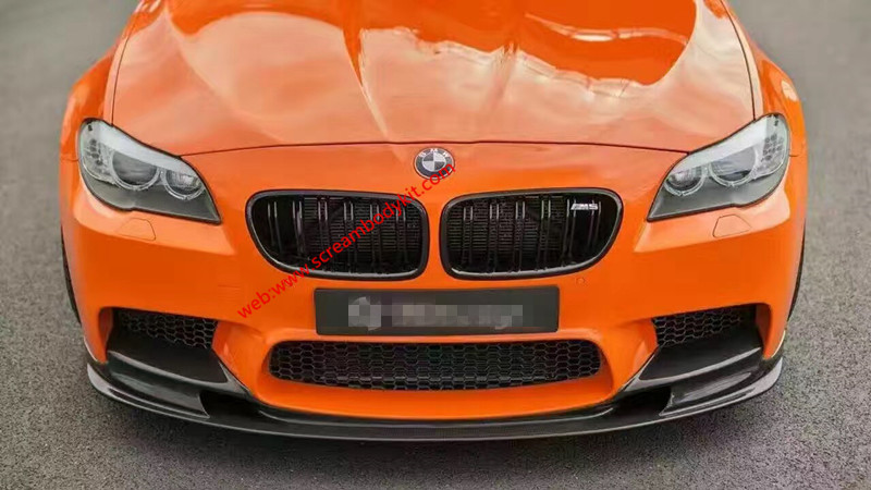 BMW M5 front lip after lip carbon fiber