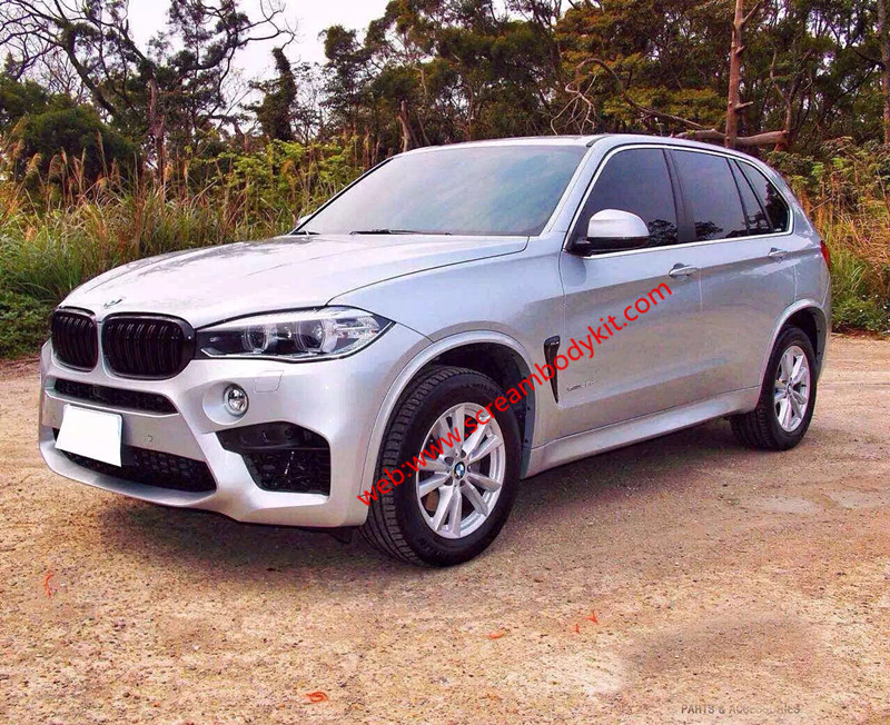 BMW X5 F15 X5M body kit an front bumper after bumper side skirts