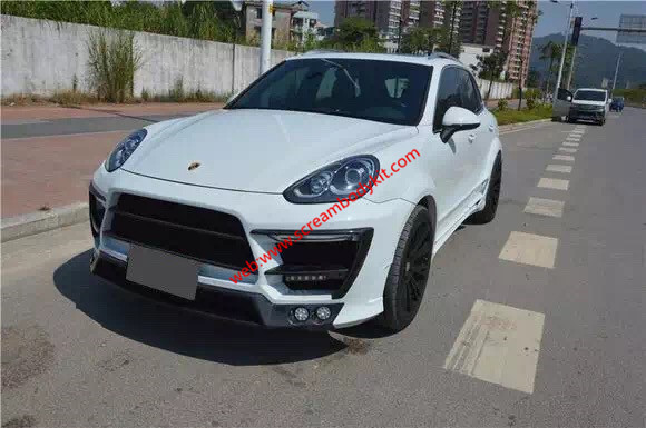 Porsche cayenne body kit front bumper after bumper side skirts hood rear spoiler fenders