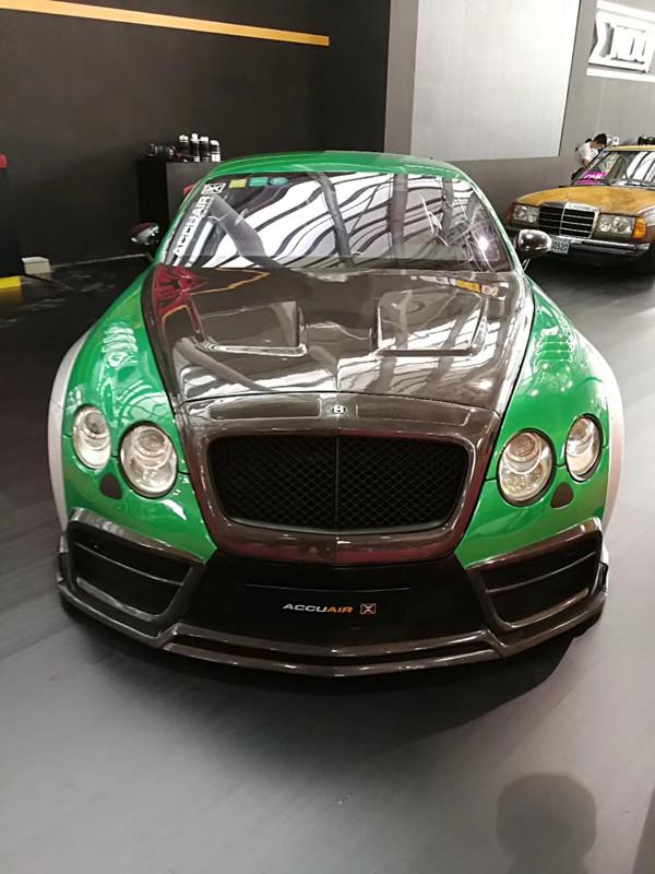 BentleyGT wide body kit front bumper after bumper side skirts fenders hood spoiler