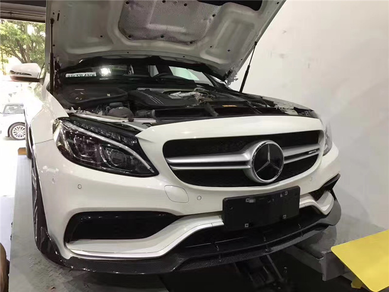 Benz W205 C63s coupe/sedan update brabus Carbon Fiber  front lip after lip  wing