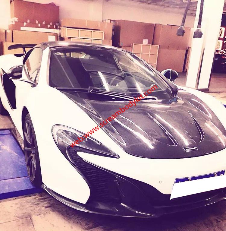 Mclaren MP4 12C update P1 carbon fiber hood