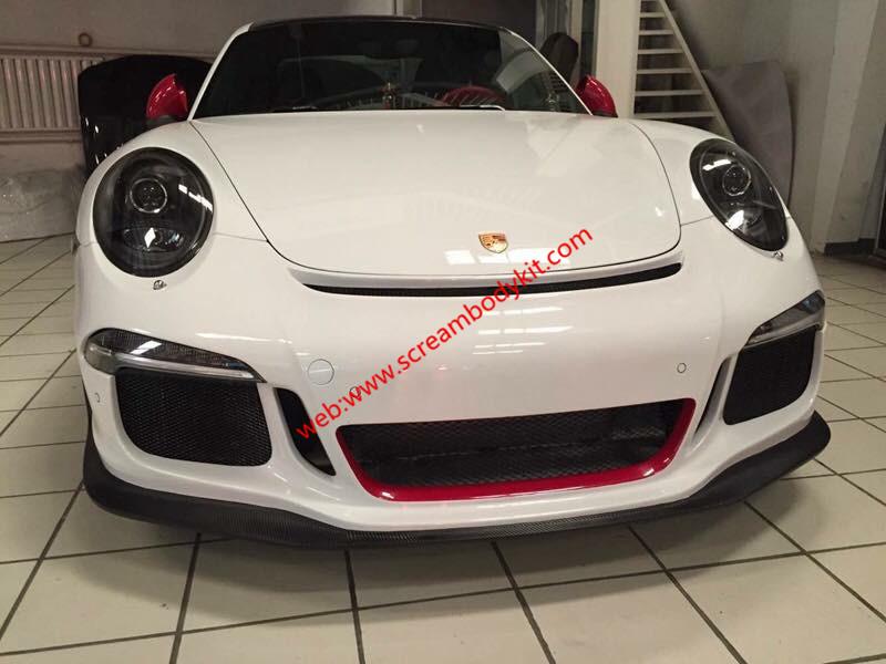11-15 Porsche 911 991 body kit GT3 front bumper after bumper side skirts rear spoiler