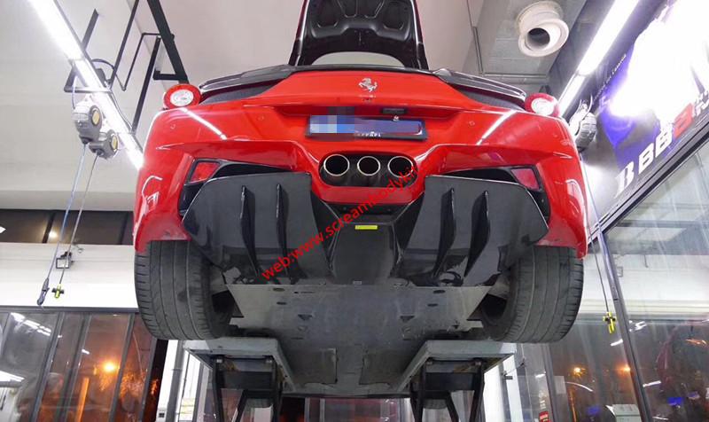 Ferrari 458 after lip Carbon fiber