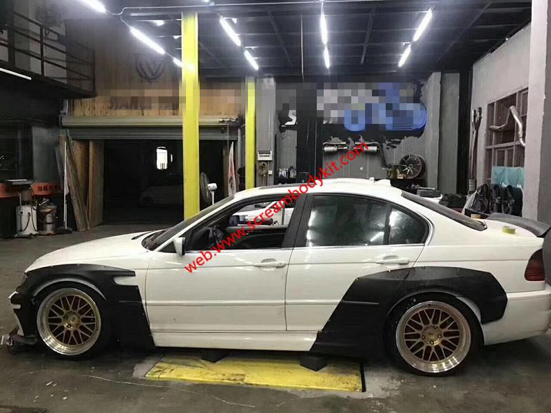 BMW E46 body kit front lip fenders spoiler
