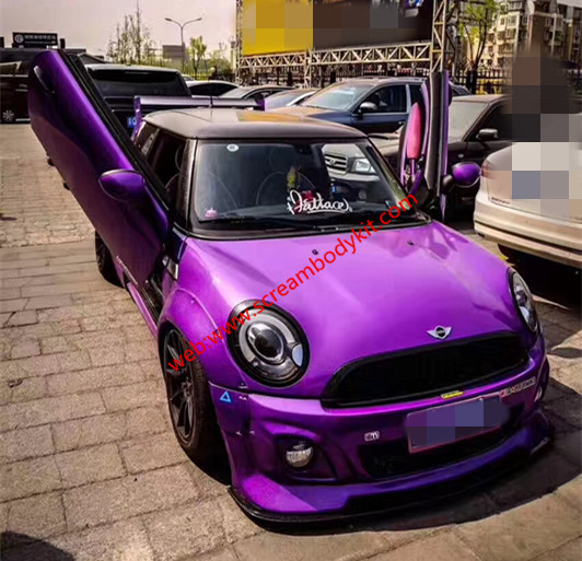MINI R56 COOPER S wide body kit front bumper after bumper side skirts fenders spoiler