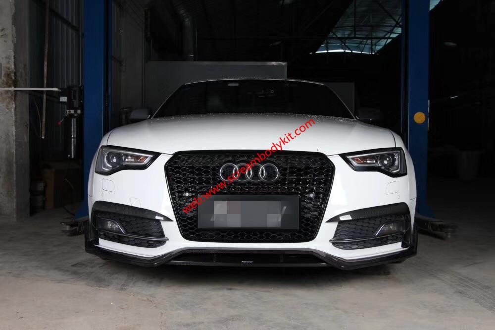 12-19 Audi A5 S5 body kit front lip after lip dry carbon fiber