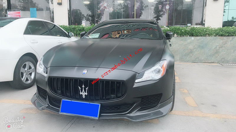 Maserati Quattroporte body kit front lip after lip side skirts carbon fiber