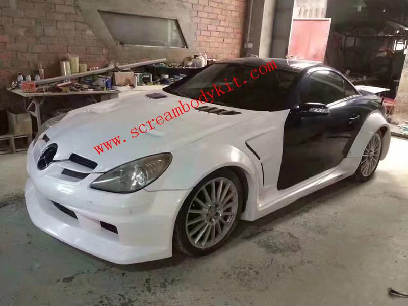 Mercedes-Benz SLK R171 wide body kit front bumper after bumper side skirts fenders hood