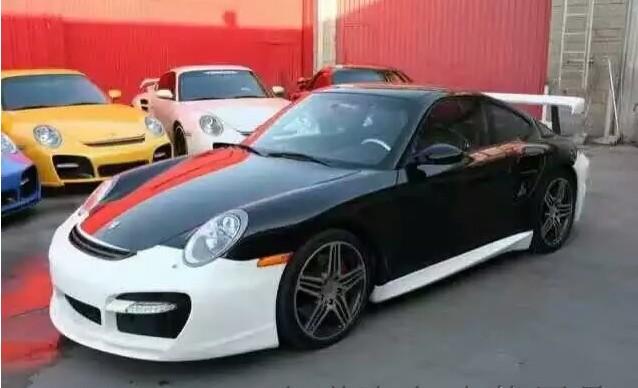 05-12 Porsche 911 997 update Techart body kit front bumper after bumper side skirts wing rear spoiler
