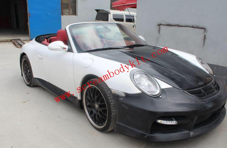 05-12 Porsche 911 997 turbo update MISHA body kit front bumper after bumper hood  side skirts