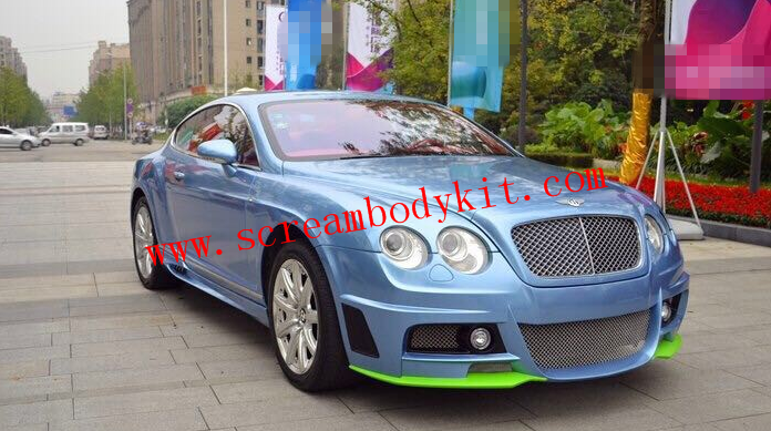 Bentley Continental GT (04-13) update WALD wide body kit front bumper after bumper wing side skitrs