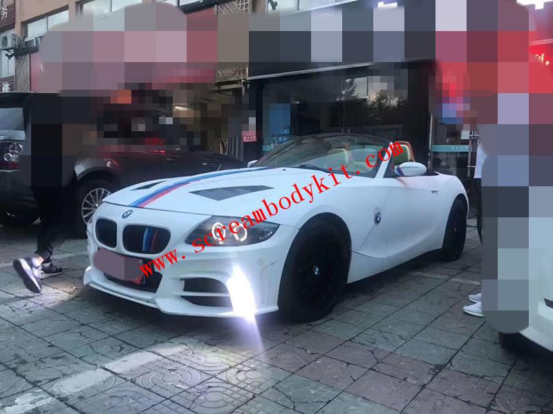 BMW Z4 E85 E83 update ROWEN body kit front bumper after bumper