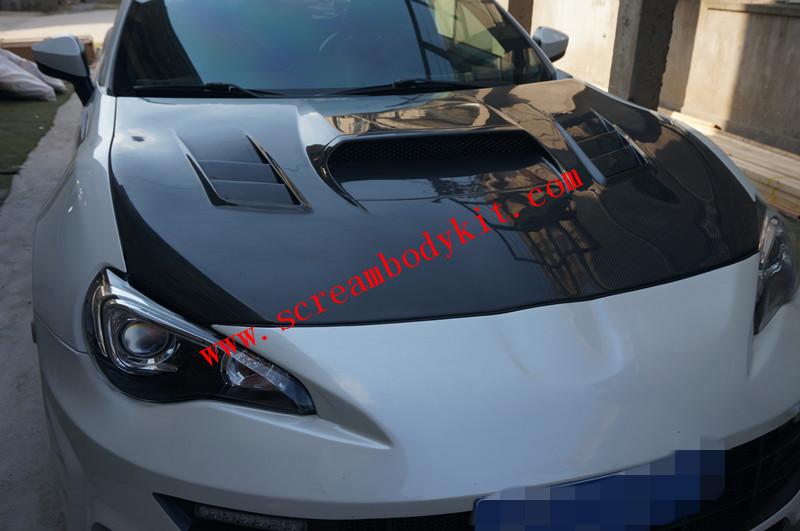 Toyota FT86 GT86 FRS SUBARU BRZ update STI carbon fiber hood