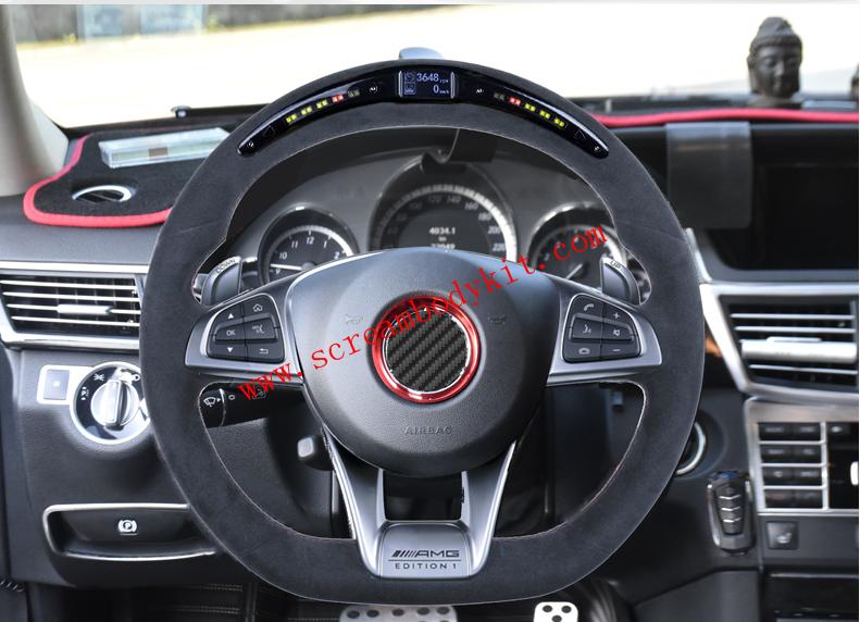 Mercedes-Ben AMG A45 C63 S63 G63 A B C E CLA GLC GLE AMG Carbon fiber steering wheel or led steering wheel