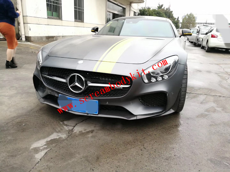 Mercedes-Benz GTSAMG  body kit Front lip after lip wing side skirts Carbon fiber