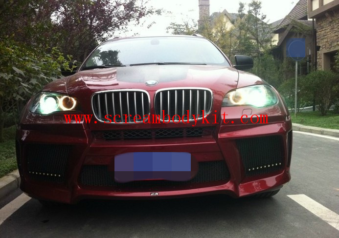 BMW X6 update  Lumma wide body kit front bumper after bumper side skirts fenders etc