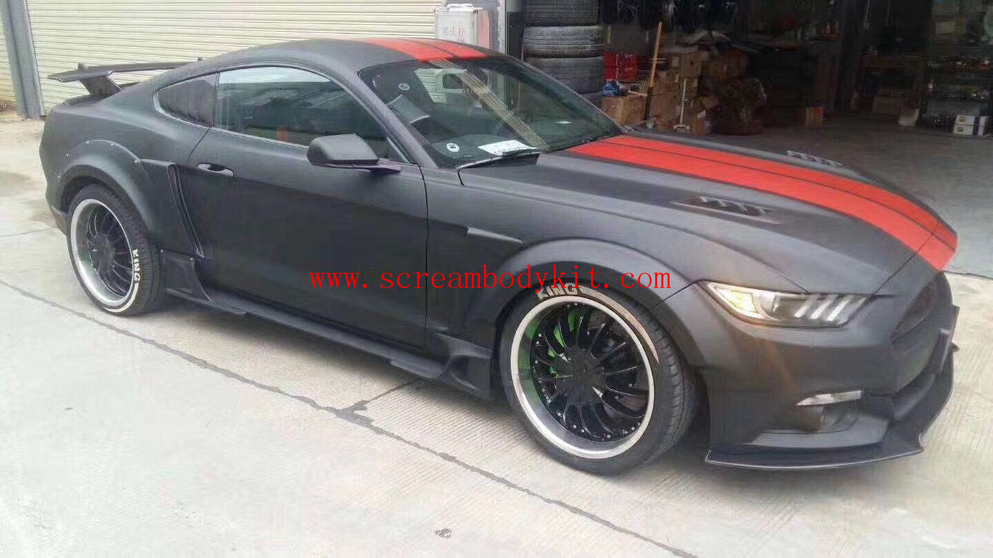 15-17 Mustang ones front bumper + wide body kit front bumper front lip side skirts