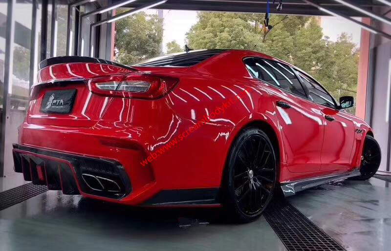 Maserati Quattroporte update body kit front bumper after bumper front lip after lip side skirts hood