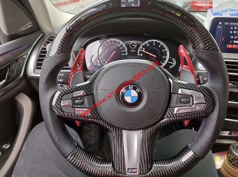 All model BMW carbon fiber steering wheels or LED