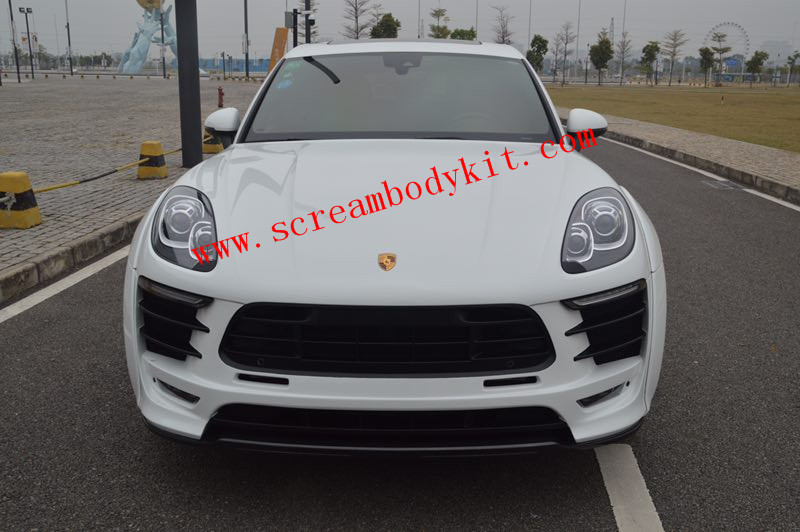 New porsche macan update PD wide body kit front bumper front lip side skirts after lip fenders