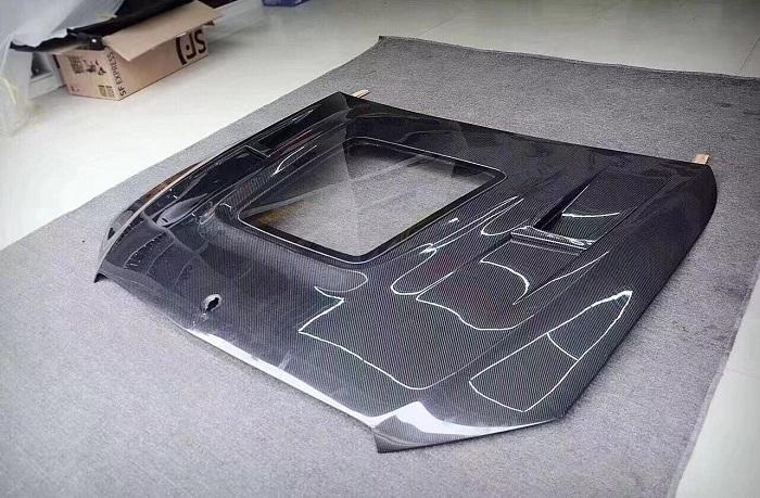Mercedes-Benz W212W213 E200E260E320 Transparent carbon fiber hood