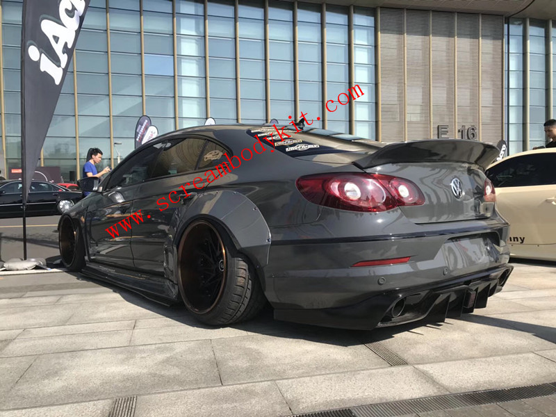 Volkswagen CC Update wide body kit front lip after lip wing side skirts