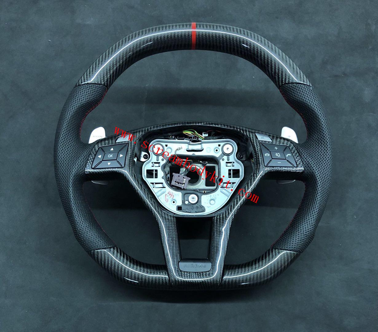 Mercedes-Ben W204 C63 AMG update carbon fiber Steering wheel