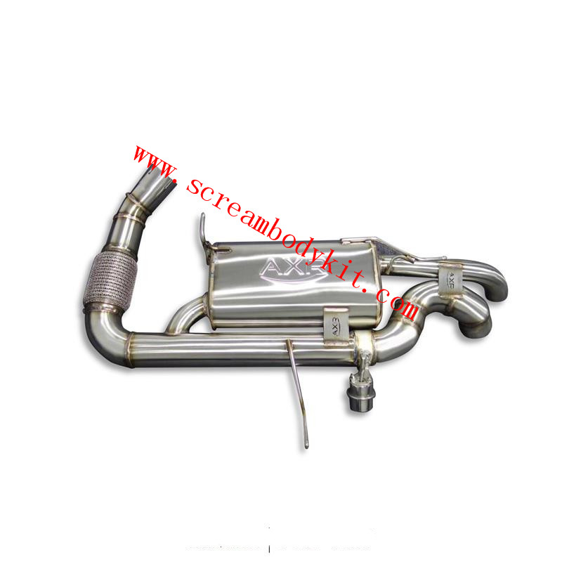 BMW I8 exhaust downpipe without cat middle pipe pressure valve system muffler remote control module tips