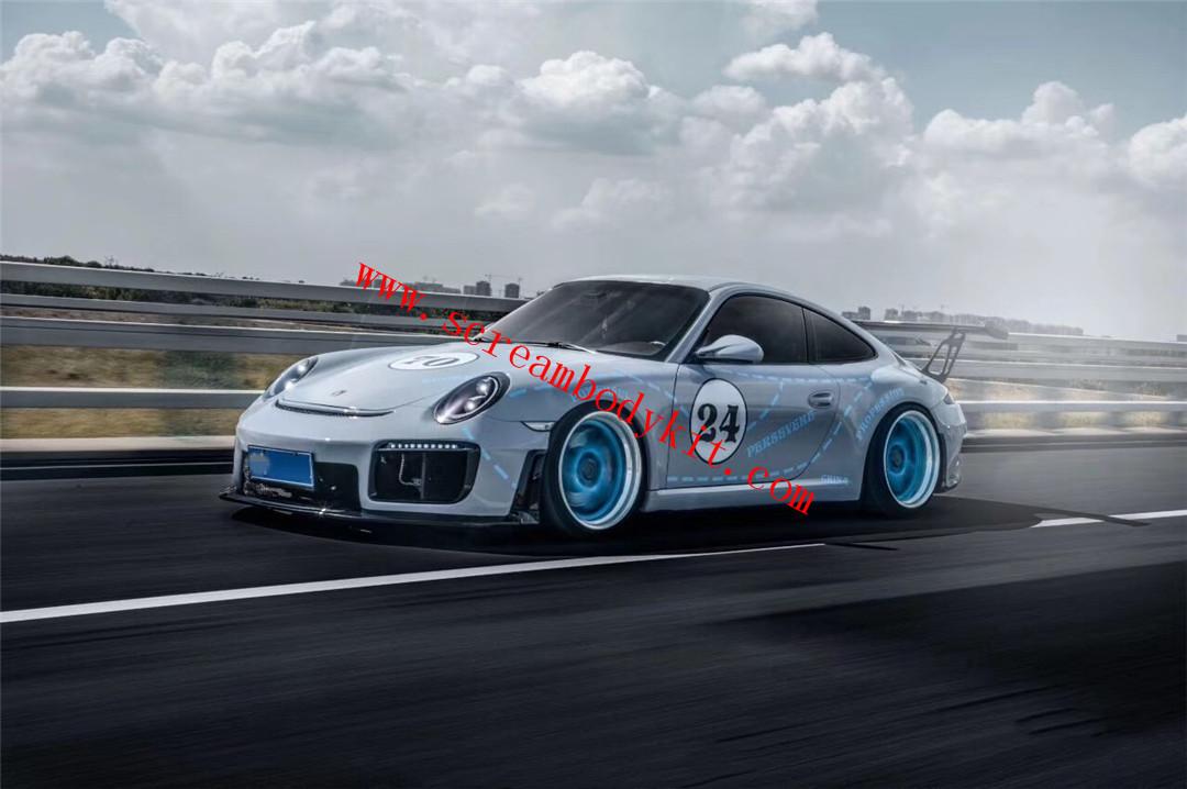 05-12 Porsche 911 997 GT2 RS body kit front bumper after bumper spoiler