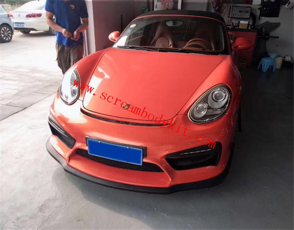 Porsche 987.2 Cayman boxster GT4 front bumper lighting rear bumper spoiler GT4 spoiler