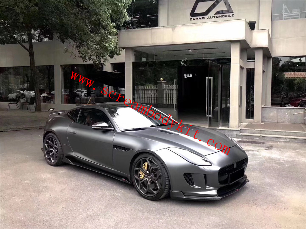 13-18 Jaguar F-type carbon fiber front lip rear lip side skirts spoiler hood