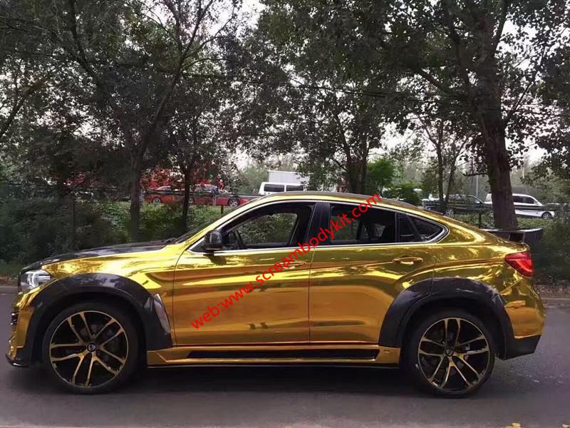 BMWX6 X6M wide body kit F16 front bumper rear bumper side skirts fenders spoiler hood PU