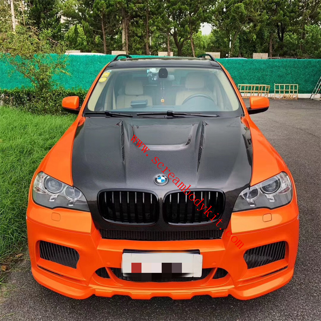 BMW E70 X5 x5m body kit front bumper rear bumper side skirts fenders hood and lighting