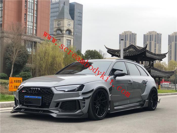 Audi RS4 body kit front lip rear lip side skirts fenders spoiler