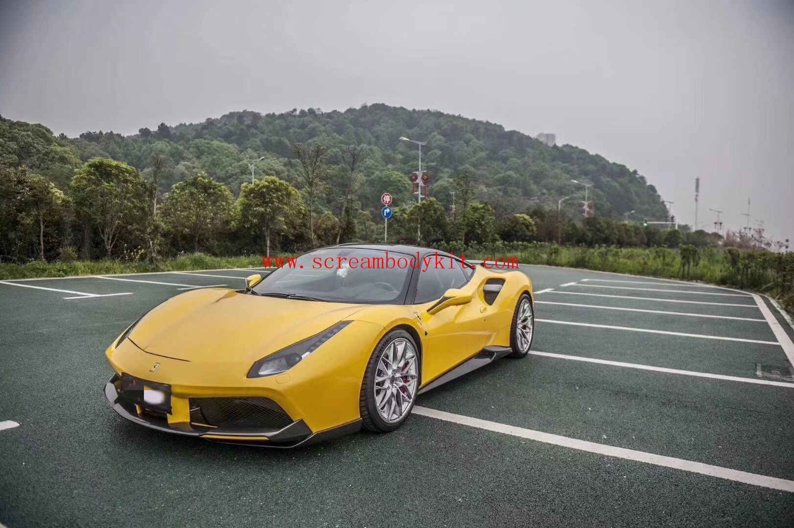 Ferrari 488 GTB body kit Novite front lip rear diffuser side skirt spoiler dry carbon fiber etc