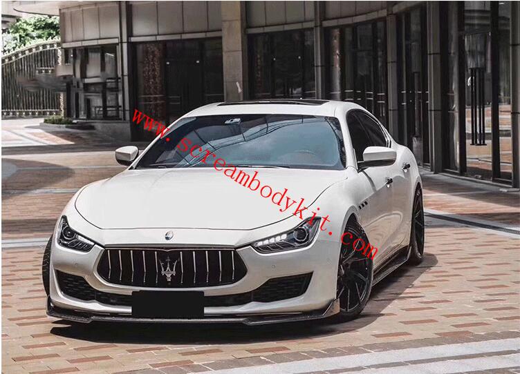 18 Maserati Ghibli body kit front lip rear lip side skirts carbon fiber