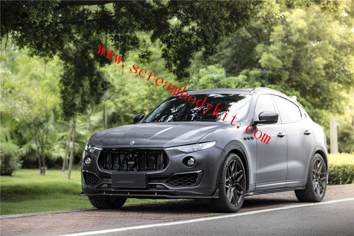 Maserati Levante front lip rear lip side skirts spoiler hood