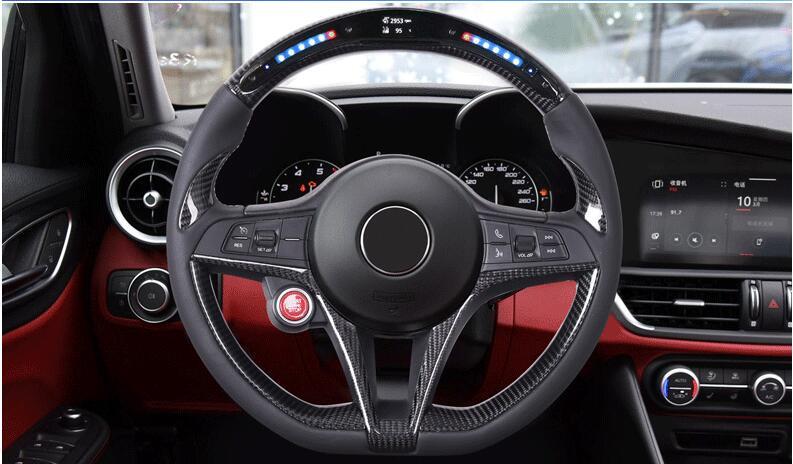 Alfa Romeo Giulia/Stelvio LED carbon fiber steering wheel or not add LED