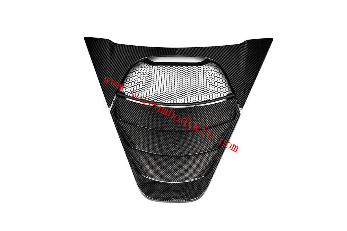 Mclaren 720s engine cover dry carbon fiber