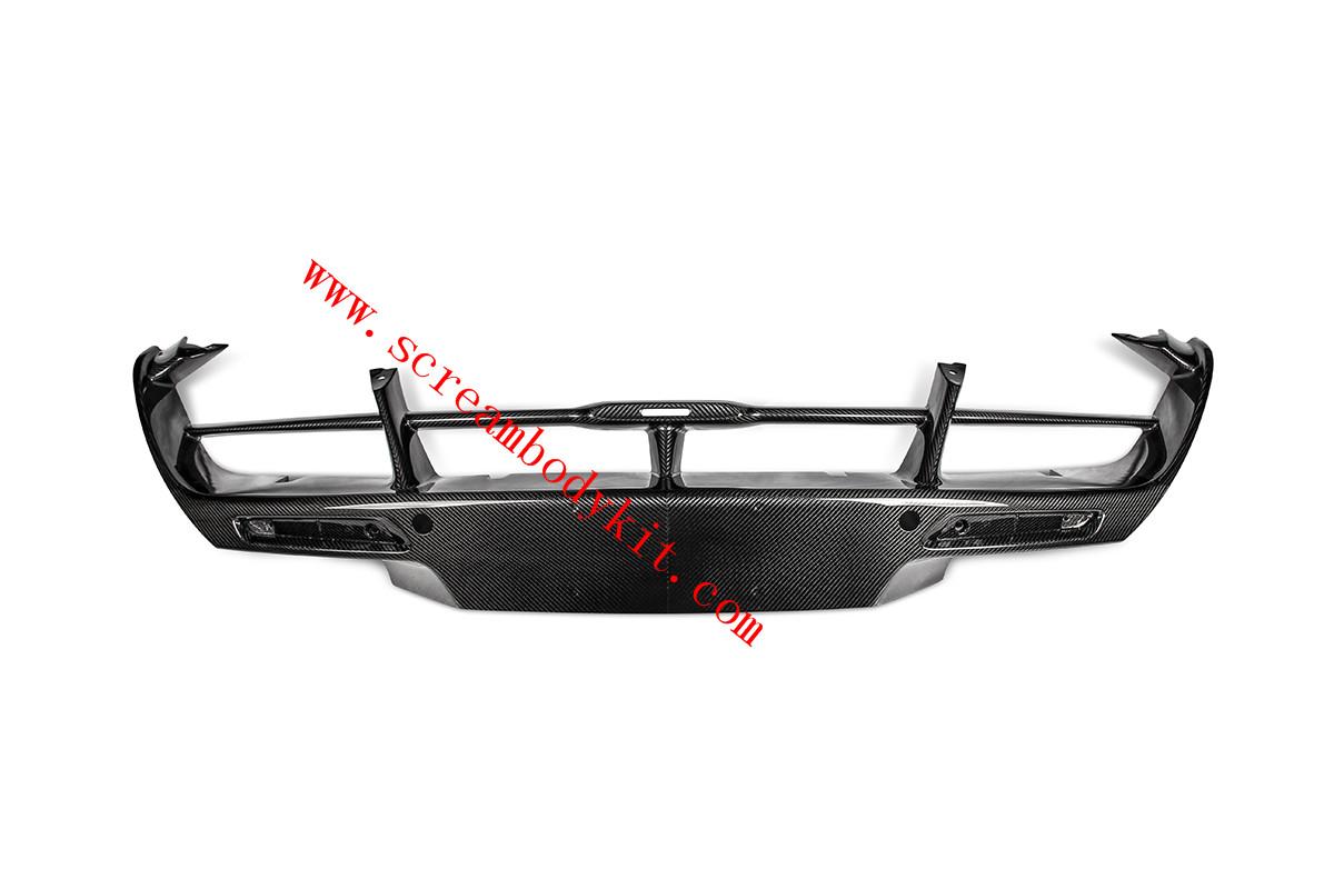 Mclaren 720s rear bumper lip dry carbon fiber